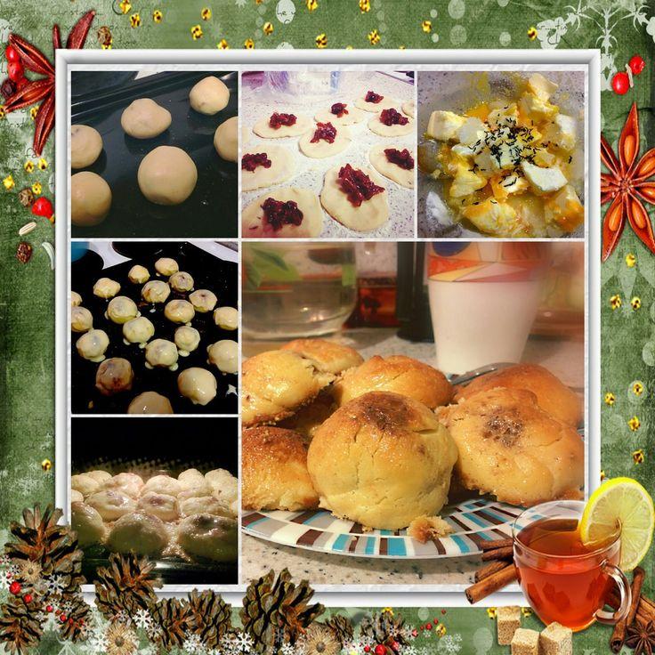 Праздничное печенье с ананасовым джемом и  корицей от Дарьи Константиновой.