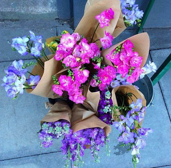 pink + purple peonies