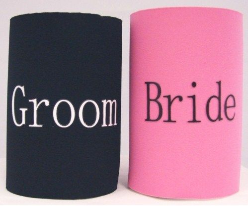 Stubbie Holders - Bride and Groom