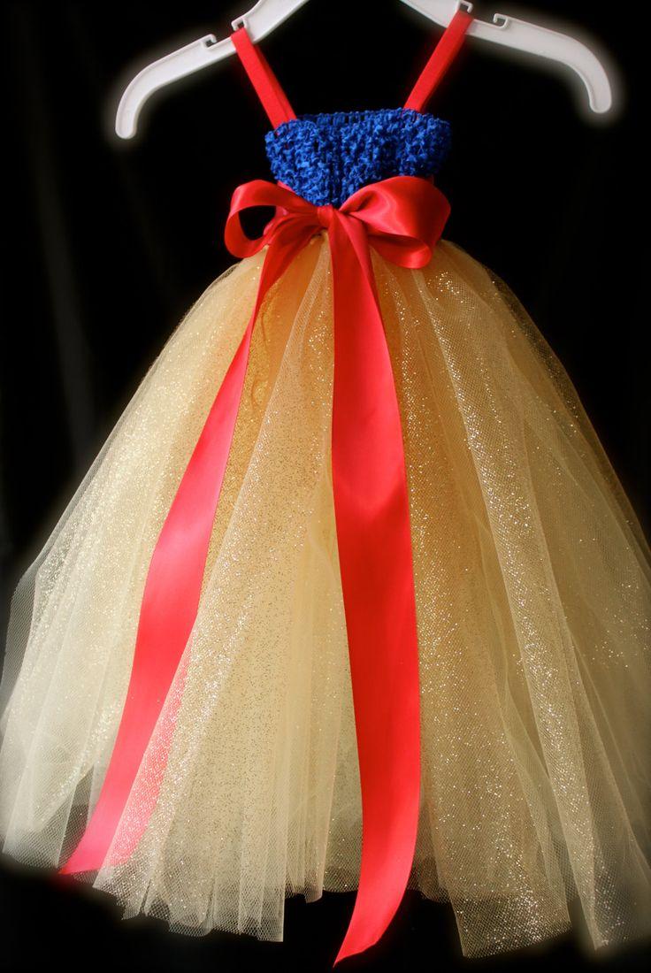 Snow white apron etsy - Back View Of Snow White Inspired Princess Tutu Dress Empire Waist Royal Blue