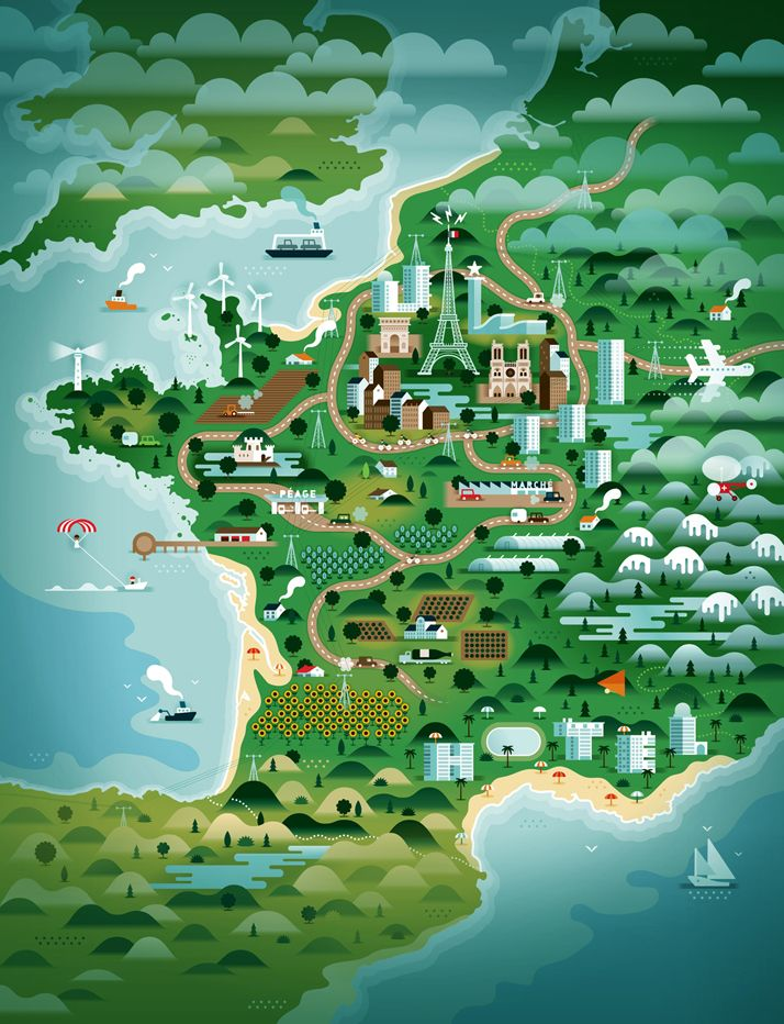 KHUANKTRON Map 18 best Editorial Illustration images