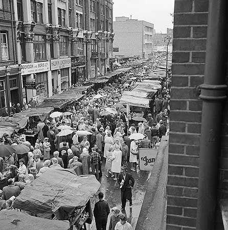 Petticoat Lane Market, looking south c 1955, John Gay via English Heritage