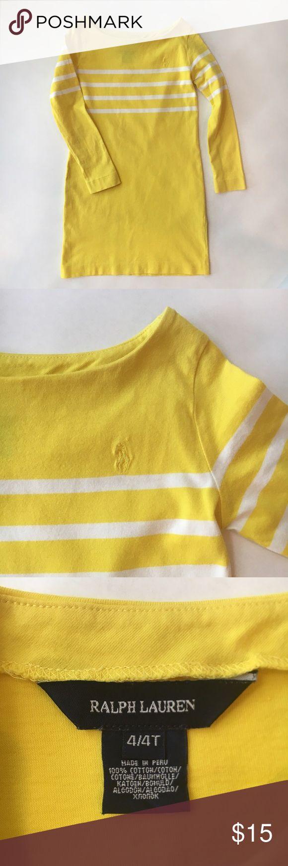 Ralph Lauren dress ☀️ Ralph Lauren sunny yellow beach dress Soft jersey fabric Classic yellow with white stripes Ralph Lauren Dresses