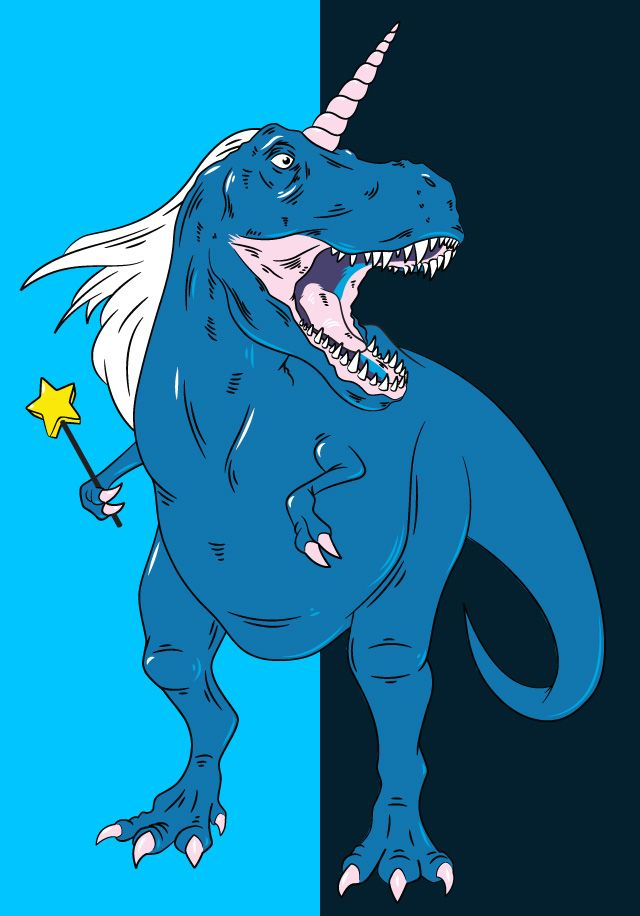 Unicornasaurus... A combination of my two favorite things:unicorns and dinosaurs. To bad it doesn't have a mustache.