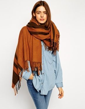 ASOS+Oversized+Scarf+With+Stripes
