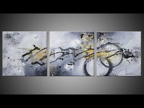 Démonstration réalisation d'un tableau abstrait en accéléré - Ulex Minor...