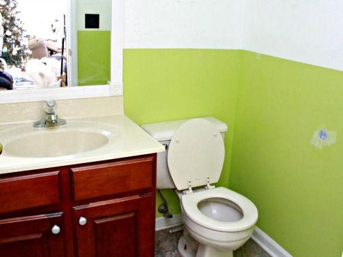 Marvelous Budget Bathroom Makeover   Including Framing Out Your Builder Grade Mirror
