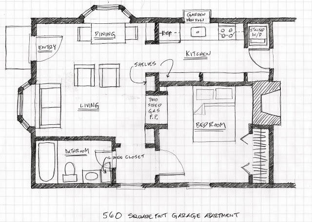 small scale homes floor plans for garage to apartment conversion floor plans pinterest. Black Bedroom Furniture Sets. Home Design Ideas