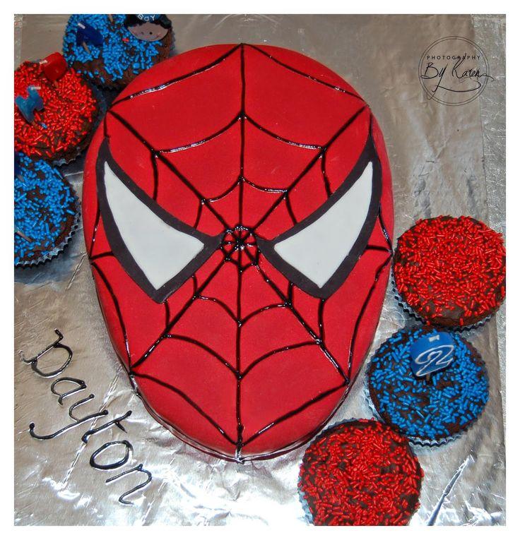 easy spiderman cake