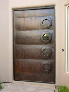 steel door - Contemporary - Front Doors - phoenix - by Kevin Caron Studios