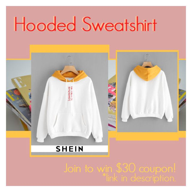 """""""SHE IN: Hooded Sweatshirt"""" by bklana ❤ liked on Polyvore featuring bklana"""