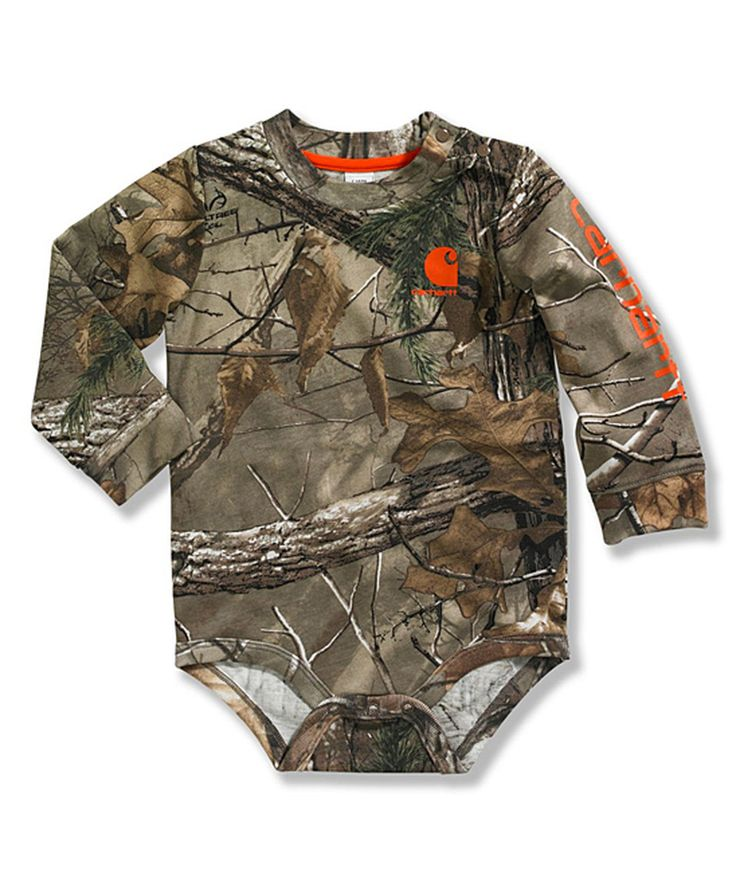 This Dark Brown Realtree Xtra® Camo Bodysuit - Infant by Carhartt is perfect! #zulilyfinds