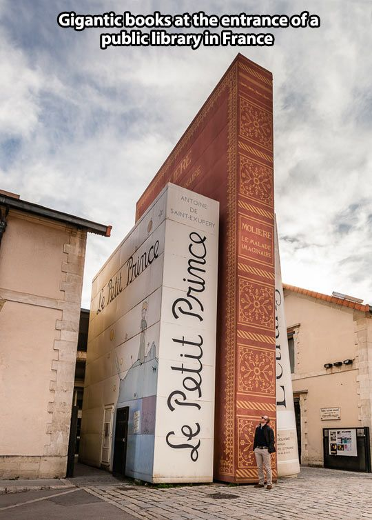 Awesome entrance to a public library in France…