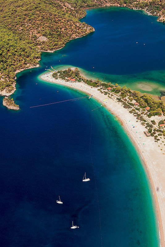 Blue lagoon of Oludeniz, Turkey