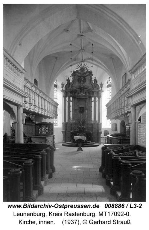 Leunenburg, Kirche, innen
