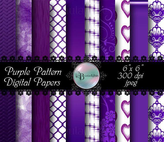 Purple Pattern Digital Papers  Gradient Rainbow by Beauladigitals