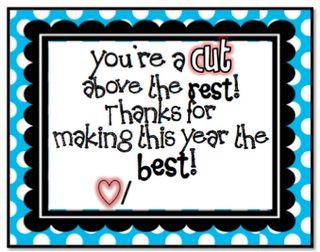 Parent Volunteer Gift Idea {attach to a pair of scrapbooking scissors}.