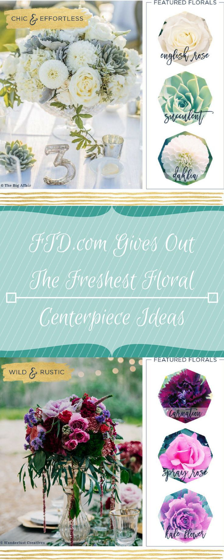 FTD Gives Out The Freshest Floral Centerpiece Ideas