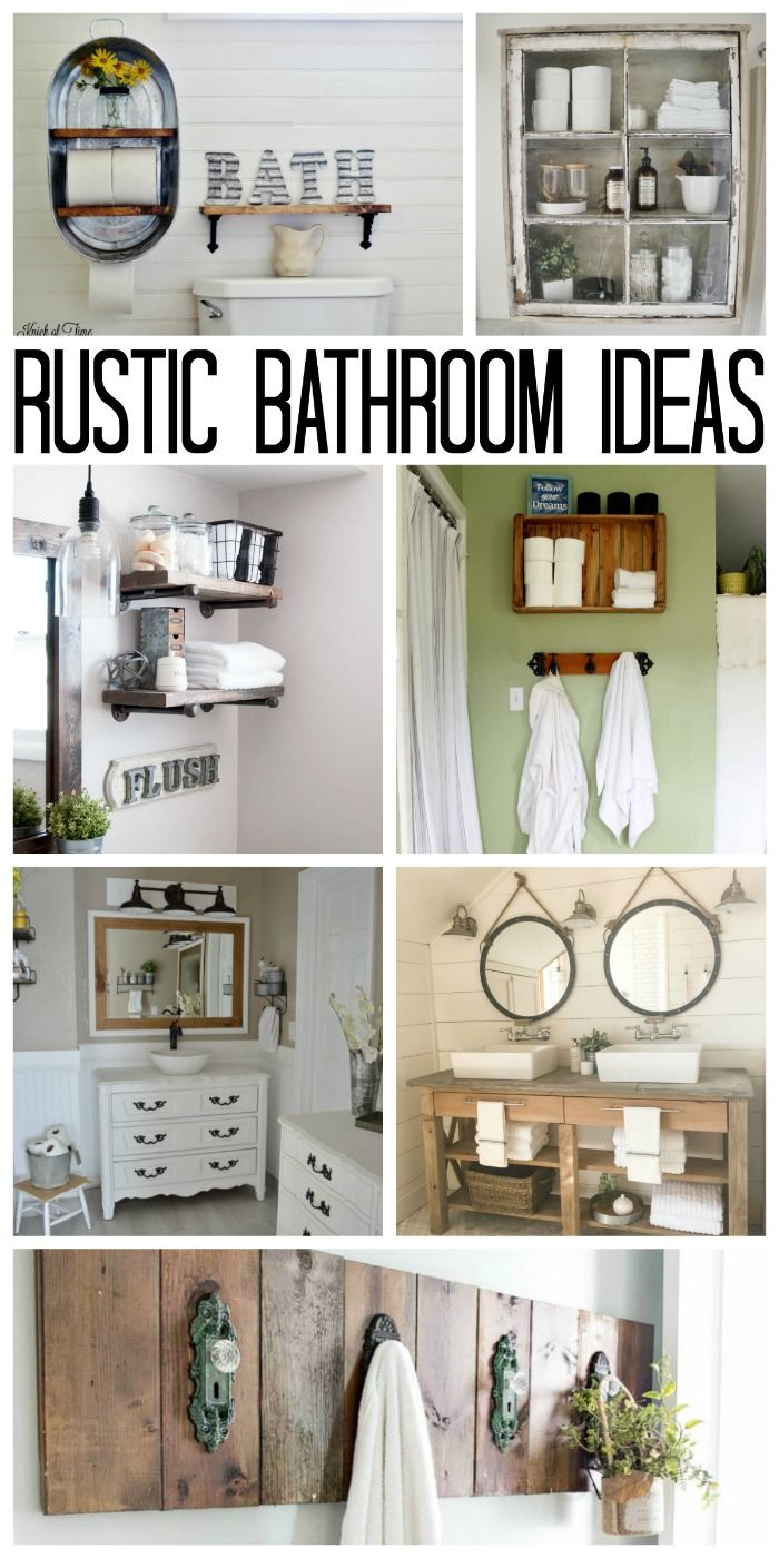 1182 best farmhouse faves images on pinterest craft for Country rustic bathroom ideas