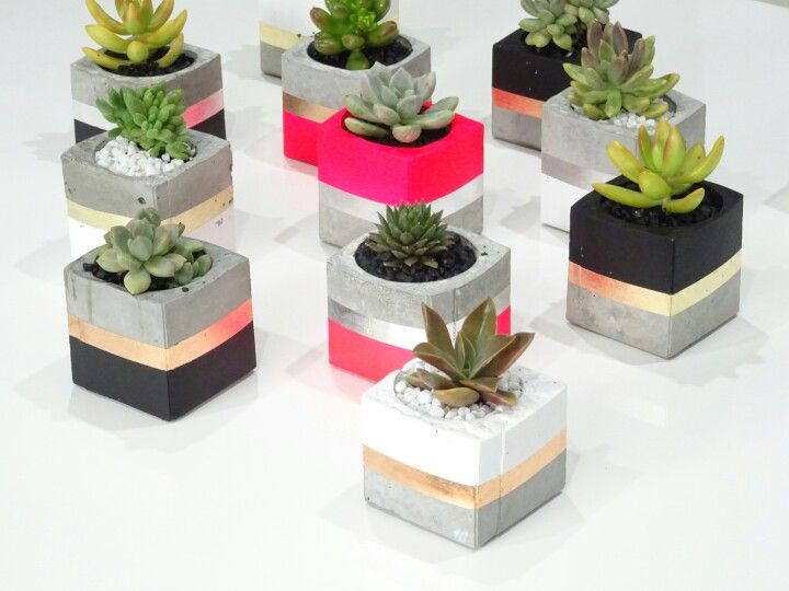Handmade concrete planters by Metal Dust Studio www.metalduststudio.com.au