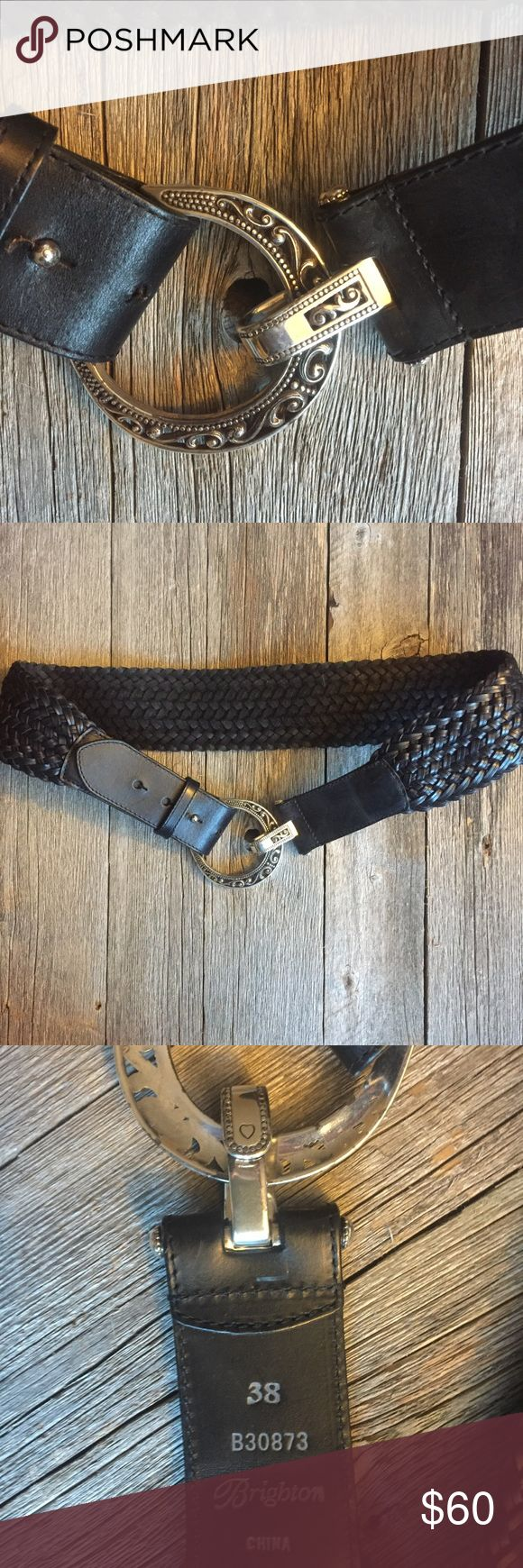 Brighton Belt Brighton Belt • black • silver • size 38 Brighton Accessories Belts
