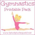 girls gymnastics printable pack