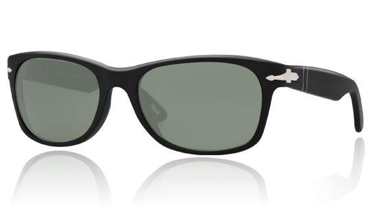 Persol per uomo po2953s  - 900\31 (MATTE BLACK\crystal green), Occhiali da Sole Calibro 56