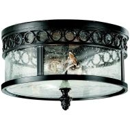 Murray Feiss Chancellor Traditional Outdoor Flush Mount Ceiling Light - MRF-OL7813BSB