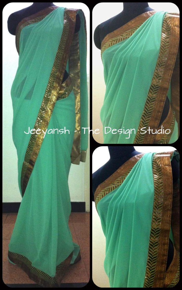 New Design of Designer Sarees by Jeeyansh - The Design Studio. Complete Collection Available at: http://www.indiebazaar.com/shop/Jeeyansh/sarees?sort=mr