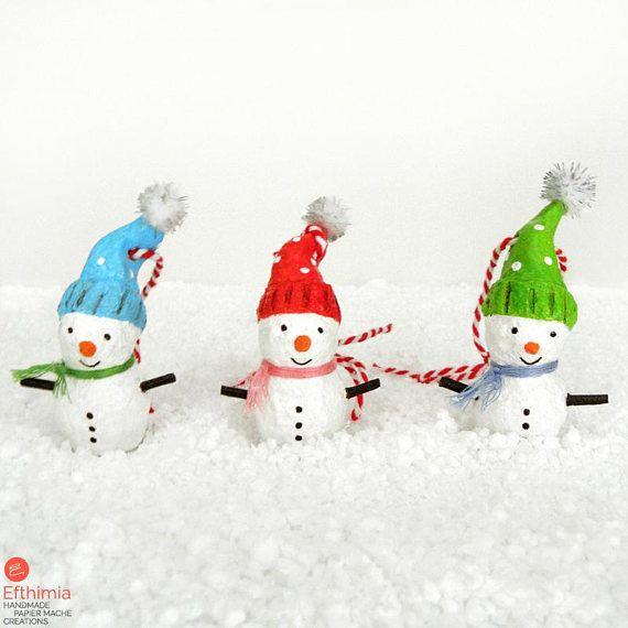 Snowman Ornament Christmas Snowman Decoration Set Of 3