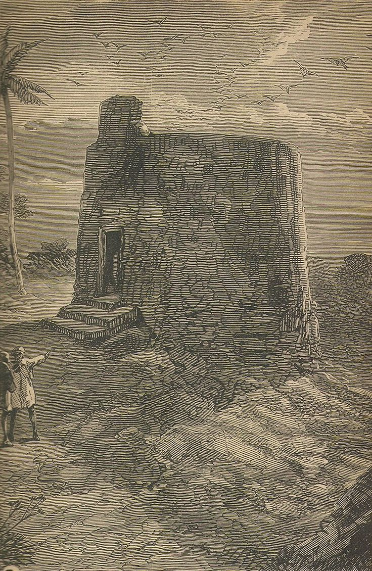 A late-19th-century engraving of a Zoroastrian Tower of Silence in Mumbai. A Tower of Silence is a circular, raised structure used by Zoroastrians for exposure of the dead, particularly to scavenging birds for the purposes of excarnation.