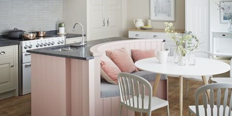 Artisan kitchen in blush from John Lewis of Hungerford
