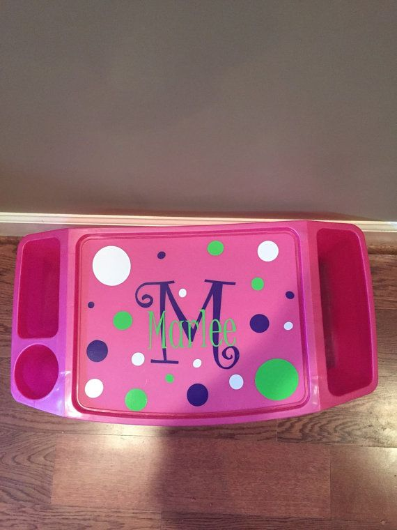 This personalized lap tray is perfect for kids! Eating meals, doing school work, or arts and crafts....the possibilities are endless! The