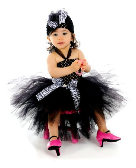 Cute but hope this little one doesn't walk in those shoes.