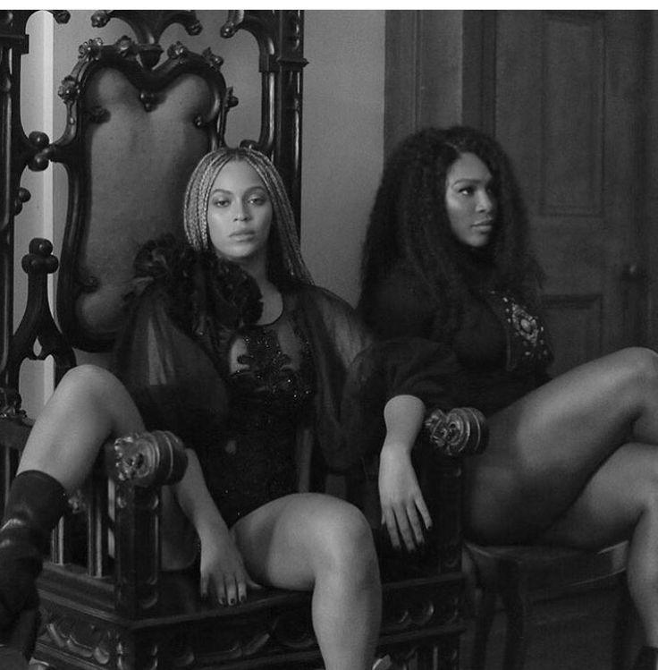 Beyoncé and Serena making Lemonade