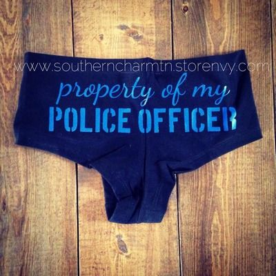 Property of my police officer boy shorts - Southern Charm
