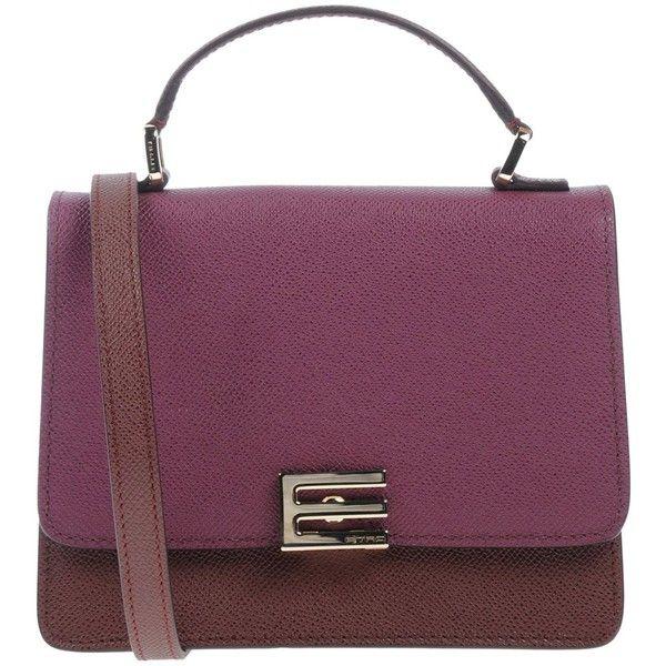 Etro Handbag 635 Liked On Polyvore Featuring Bags Handbags Deep Purple Satchel Man Bag Leather Mini An