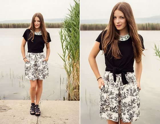 Chicnova T Shirt, Vagabond Sandals, Front Row Shop Dress, Csermak Design Necklace
