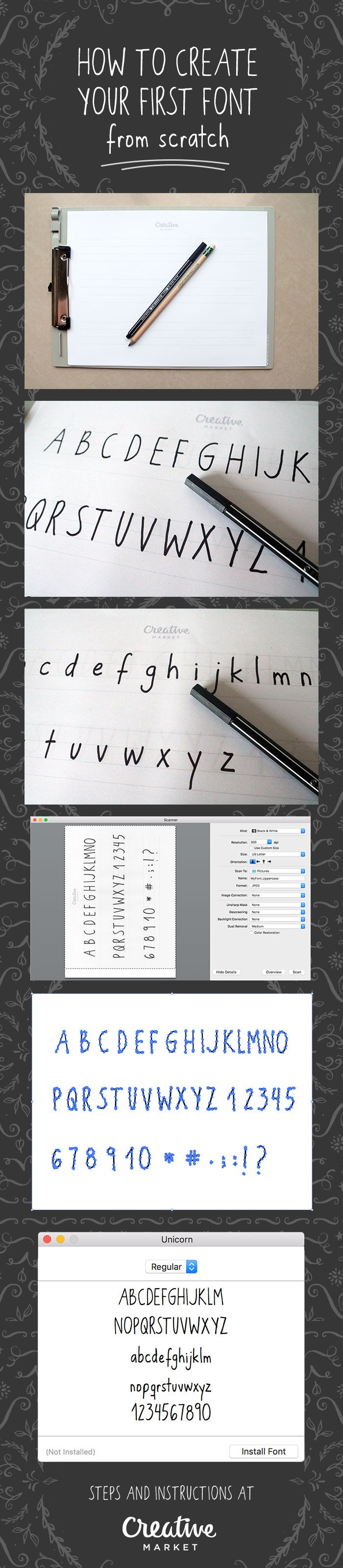How to Create Your First Font from Scratch: A Step by Step Guide