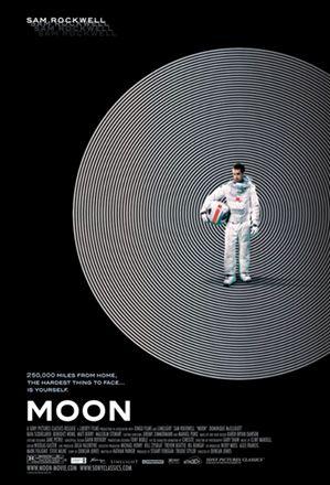 Moon (film) 2009 è un film di fantascienza Sam Bell è unico residente della base mineraria lunare Sarang della Lunar Industries. Il suo compito è di far funzionare degli estrattori automatici, che estraggono elio-3 dalla superficie lunare, ed inviarlo sulla Terra per utilizzarlo come fonte energetica. La sua unica compagnia nella base è costituita da un'intelligenza artificiale di nome GERTY, che gestisce le automazioni della base stessa.
