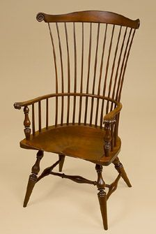 Handcrafted Windsor Chair. Made in America. I love the shape of classic Windsor chairs. My mother had a very old Windsor,and I would love to sit in that chair, darkened with age and touch the spindles when I was a kid.