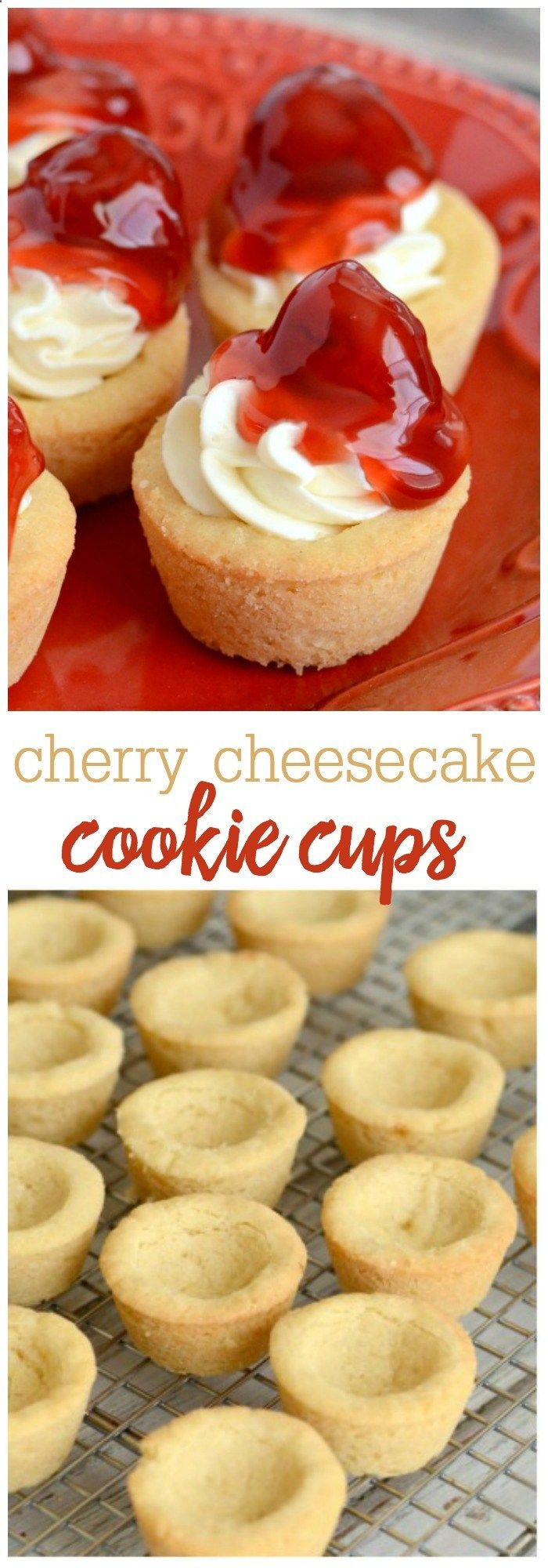 Mejores 184 imgenes de dessert recipes en pinterest mini cherry cheesecake cookie cups all the flavor of cherry cheesecake served in mini forumfinder Image collections