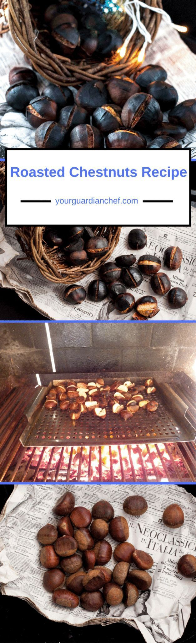 I like to celebrate Autumn with a Roasted Chestnuts Recipe as they have been my Autumn delight since I was young: roasted, boiled, savory and desserts - Your Guardian Chef #chestnuts #marrons #castagne