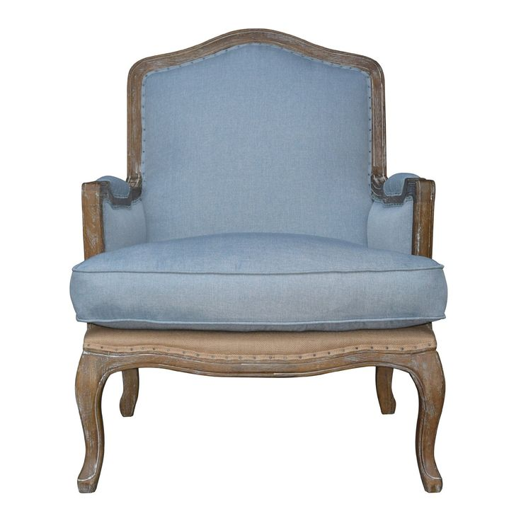 Padmas Plantation Smather's Beach Lounge Chair - Blue Linen