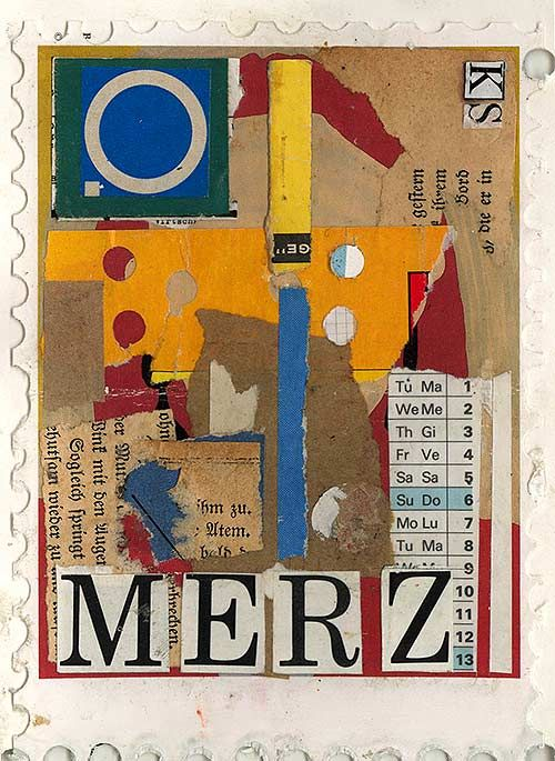 Курт Швиттерс - Мерц. Дадаизм. Ассамбляж из мусора. Идеей было соединить изящное искусство с реальным миром.