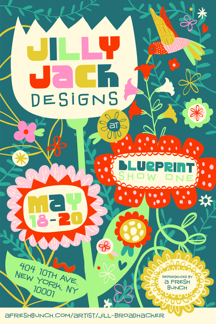 155 best jilly jack designs stationery prints art licensing whimsical floral illustration by jill broadhacker of jilly jack designs represented by a fresh bunch promo blueprint artartist malvernweather Image collections