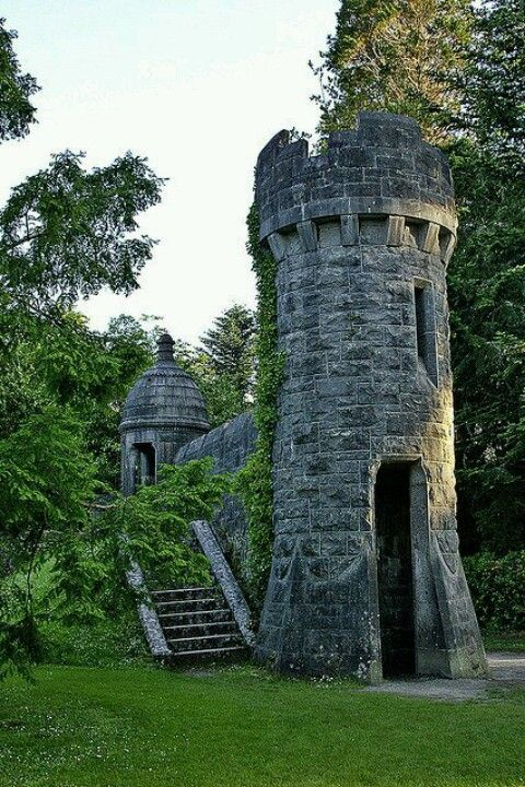 Ashford Castle, Ireland. I love these lonely little ruins.