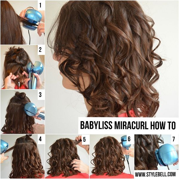 Babyliss Miracurl: Check our Hair How-To and Product Review on the Babyliss Miracurl.  It took about 10 minutes to complete the full style.