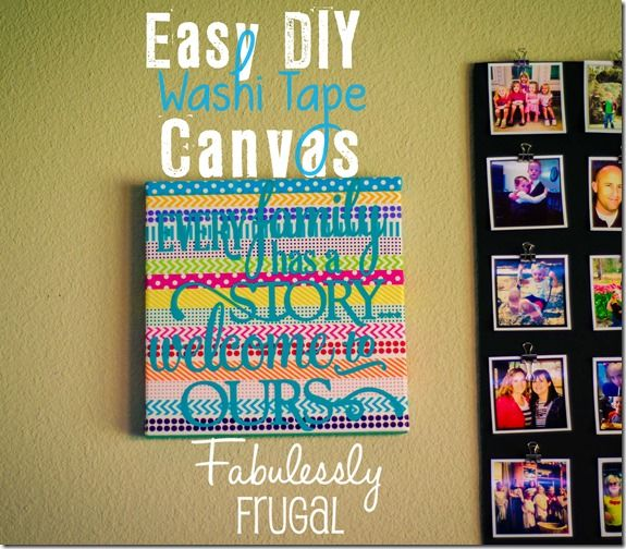 This is a quick decoration I whipped up in about 15 minutes. You know of my love for washi tape…I'd had this idea for a while and decided to try it out. - See more at: http://fabulesslyfrugal.com/easy-diy-washi-tape-canvas/#sthash.kd0hqbcg.dpuf