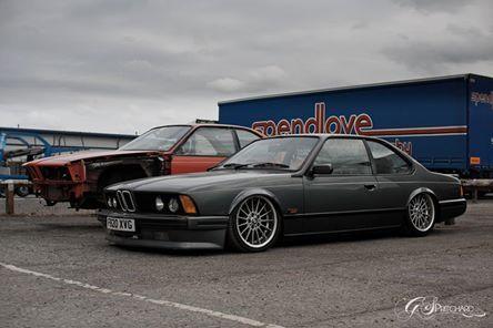 BMW E24 6 series grey slammed